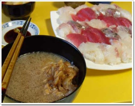 にぎり鮨と鯛茶漬け