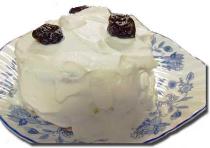 朝作ったケーキ