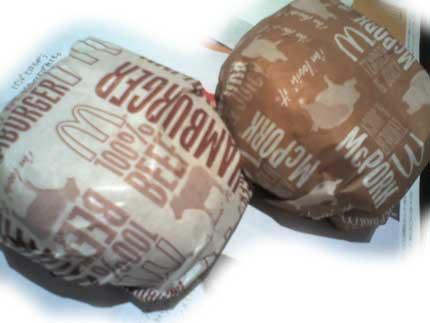 マックポークとハンバーガー
