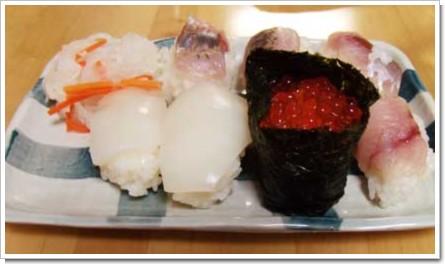 本日のにぎり寿司