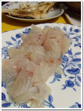 鯛のお刺身と、焼き物