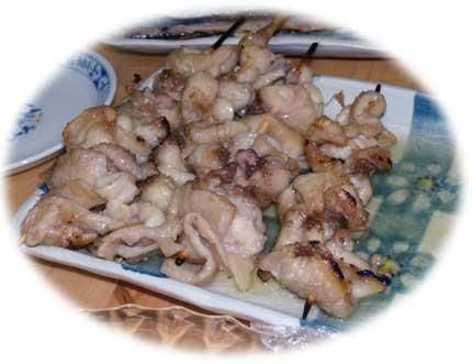 鶏皮焼き鳥